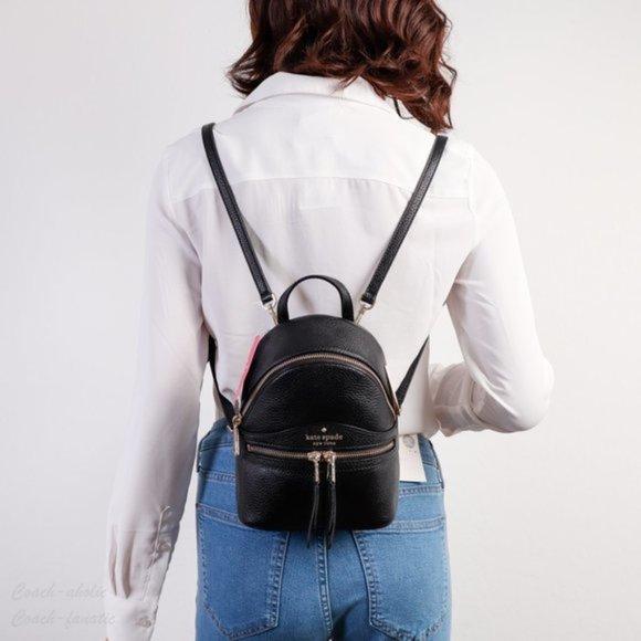 Kate Spade Karina Black Convertible Mini Backpack